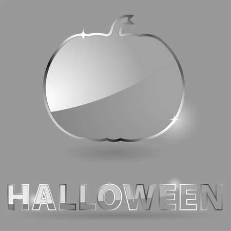 Glass theme for Halloween with Pumpkin, element for design  Vector
