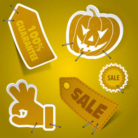 Collect Sticker and Tags, element for design, eps10 vector illustration Vector