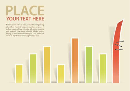 Business Charts concettuale con fiocco, eps10 illustrazione vettoriale