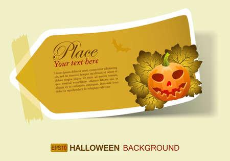 Halloween sticker with Jack OLantern, element for design, eps10 vector illustration Vector