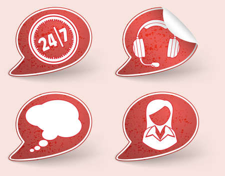 Collect Sticker with business woman and consultant icon, element for design, eps10 vector illustration Stock Vector - 10554821