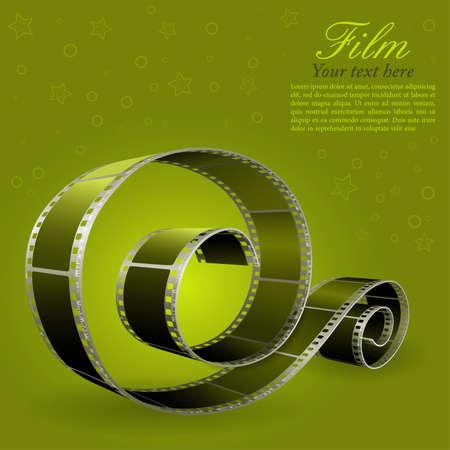 movie camera: Realistic photographic film Illustration