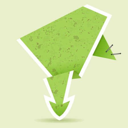 Paper Origami Arrow, element for design, vector illustration Stock Vector - 10699112