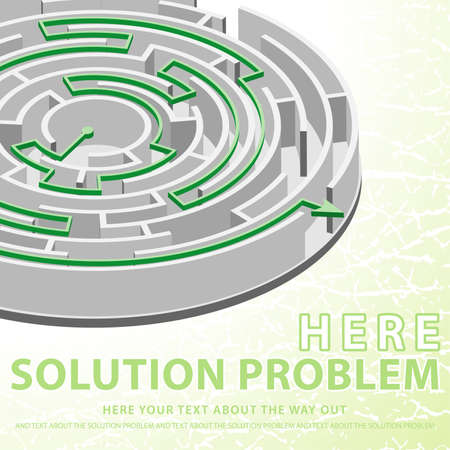 Concept Solution Problem with circular Labyrinth with the solution Vector