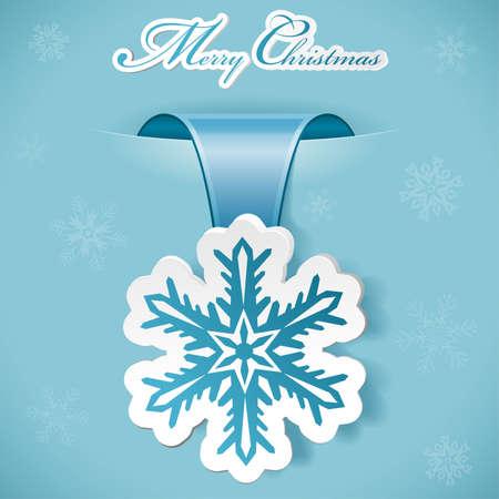 Adesivo di Natale con fiocco di neve