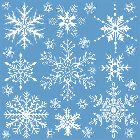 Snowflakes collection, element for design, vector illustration Vector