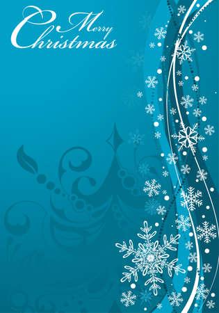 eleganz: Hintergrund Weihnachten mit Baum und Schneeflocken, Element für Design, Vektor-Illustration Illustration