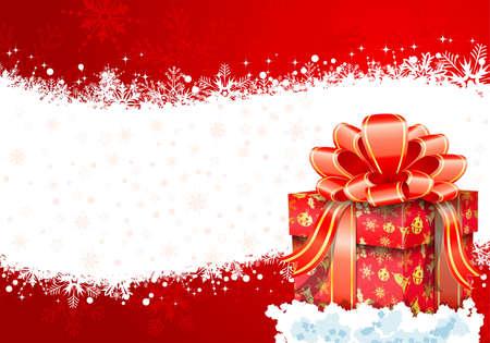 Telaio di Natale con confezione regalo, elemento per la progettazione, illustrazione vettoriale