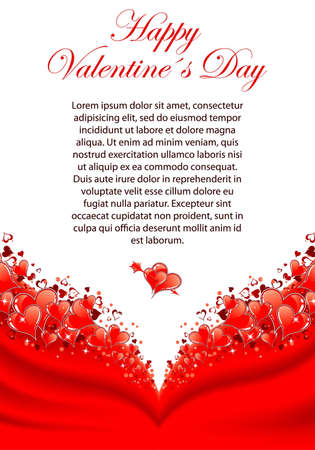 Valentines Day Greeting Card with Hearts, element for design, vector illustration 向量圖像