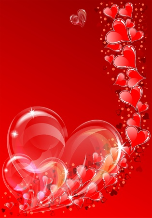 Valentines Day background with Hearts, element for design,  illustration Illustration