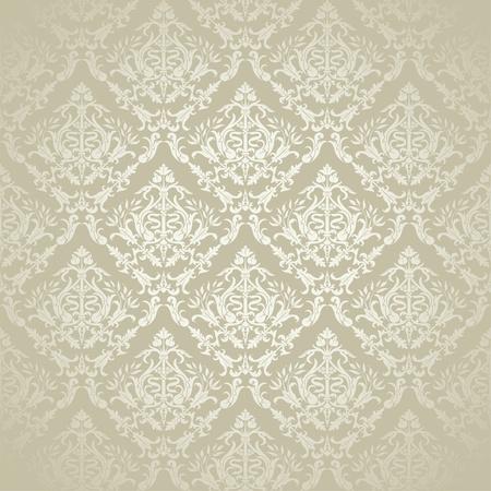 Vintage Bloemen Naadloos Patroon voor ontwerp, vector illustration Stock Illustratie