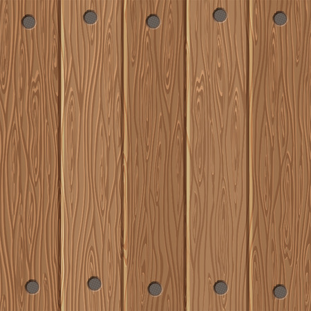 Wooden Board Texture with Nails