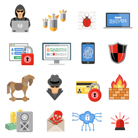 Internet Security Flat Icon Set