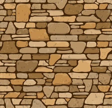 Seamless Grunge Stone Brick Wall Texture. Vector Illustration.