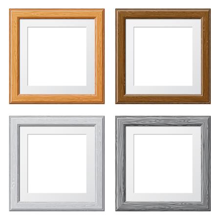 Recoge Marcos de madera para las fotos o imágenes, aislados en fondo blanco. Ilustración del vector. Foto de archivo - 47256921
