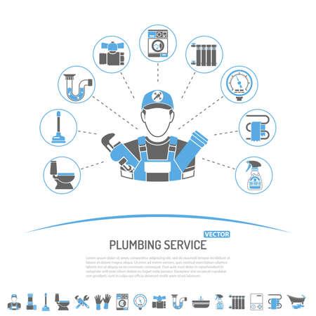 Fontanería Servicio Infografía Como La Instalación, Reparación Y ...