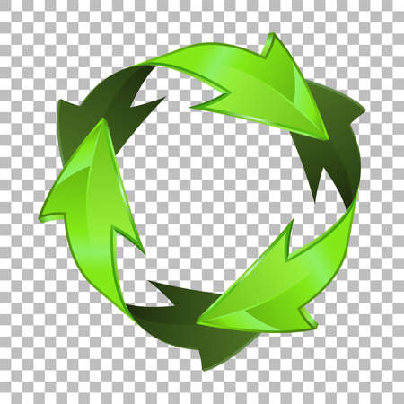 Environmental and Recycling 3D Icon on transparent background. isolated vector illustration