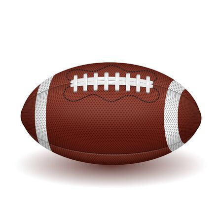 American football ball. realistic icon. vector illustration isolated on white background