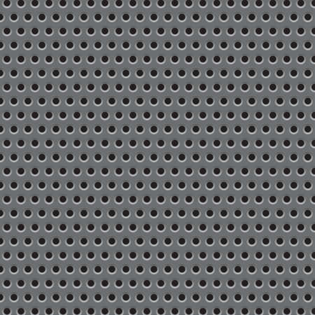 Metal plate grid texture pattern. Vector illustration