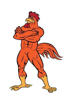 Rooster bodybuilder