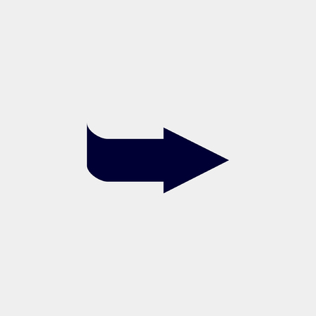 Arrow icon, Vector illustration right arrow