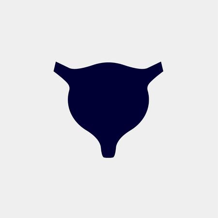 bladder icon, Vector illustration. organ icon vector