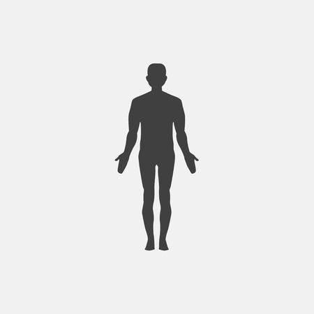 human icon vector illustration. anatomy icon vector. Illustration