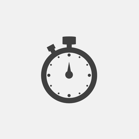 Stopwatch icon vector illustration. Timer icon vector Çizim