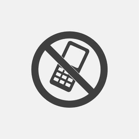 No phone icon vector illustration. technology icon vector Illustration