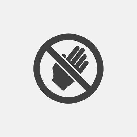 A do not touch icon vector illustration. no touch icon vector Ilustração
