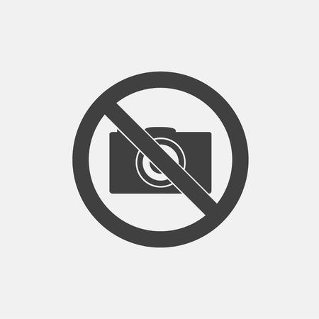 No camera icon vector illustration. no photo icon vector