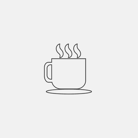 Cup of coffee icon vector illustration, flat icon vector. Çizim
