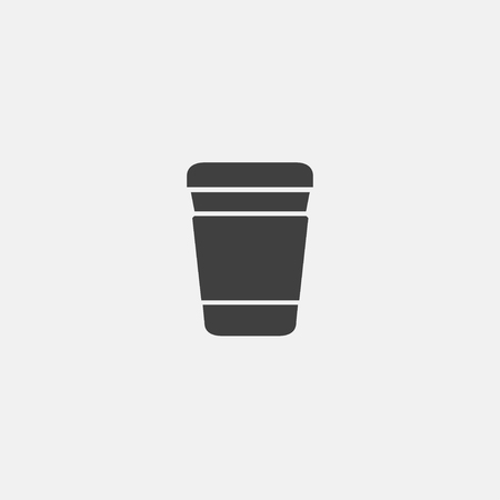 paper coffee cup icon vector illustration, flat icon vector