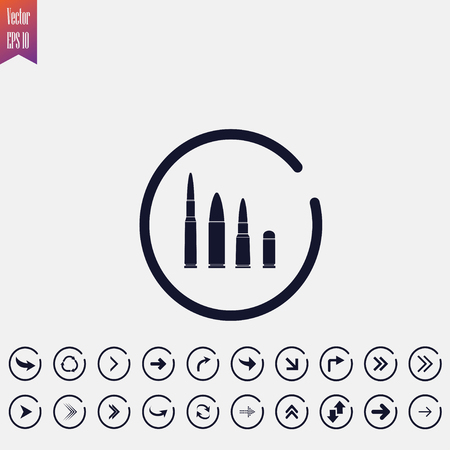bullets icon, vector illustration. flat icon arrow icons Illusztráció