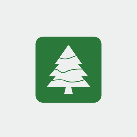 Christmas Tree icon, Xmas tree symbol, New icon symbol