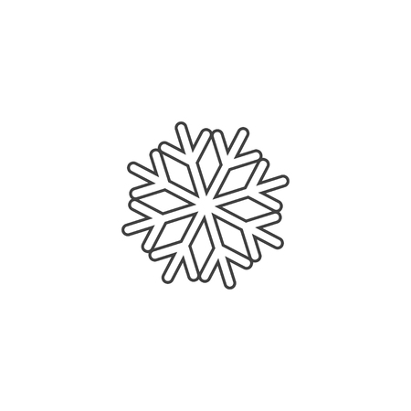 Snowflake icon or logo. Christmas and winter theme symbol. Vector and illustration. xmas icon