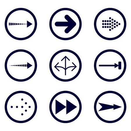 Direction arrows vector collection. Set different Black Arrow Icon. Vector Collection. vector