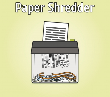 shredder: Isolated picture with transparent paper shredder   Easy to modify  Illustration