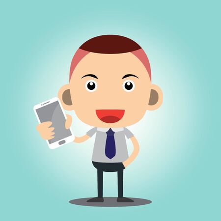Business man cartoon charactor Illustration