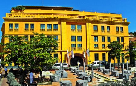 Santa Teresa square at the historic city of Cartagena, Colombia Editorial
