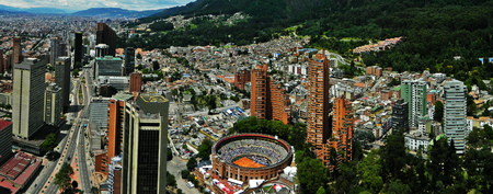 Panoramic view of the center of Bogota, Colombia Imagens