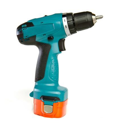 Manual cordless screwdriver isolated on a white background Reklamní fotografie