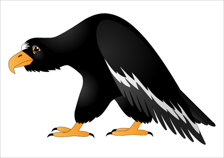 Cartoon predatory bird