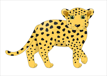 Cute cartoon leopard