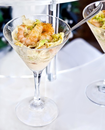 banqueting: Shrimp_cocktail_in_a_buffet_aperitif Stock Photo