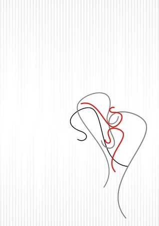 abstract_woman_love Illustration