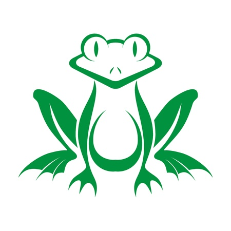 fun_green_frog_logo Vector