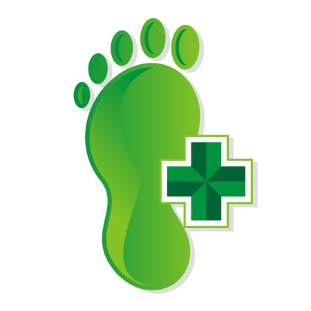 podiatrist_foot_medical_logo Vector