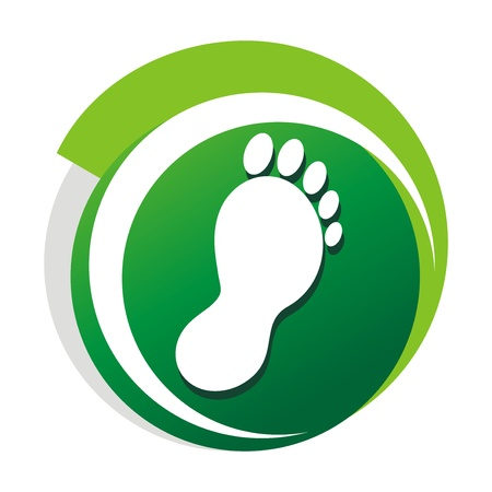 podiatrist_green_logo Stock Vector - 17718723