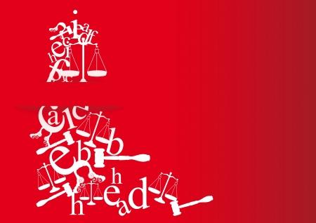 licenciatura: tarjetas de la nota y la invitación de la licenciatura en derecho con símbolos para los estudiantes que se gradúan en la ley Vectores